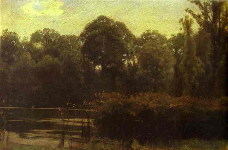 Oil painting:Pond. 1880