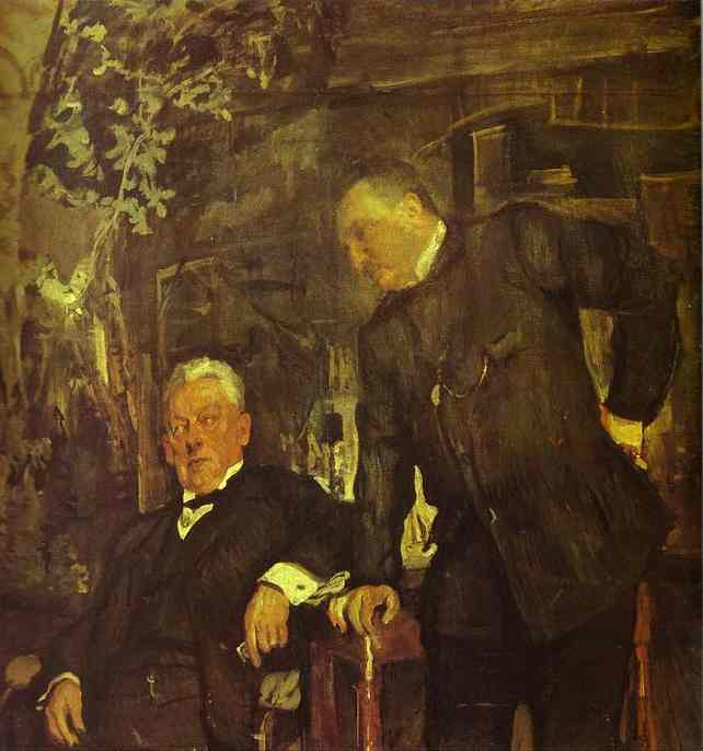 Oil painting:Portrait of Alexander Lensky and Alexander Yuzhin. 1908