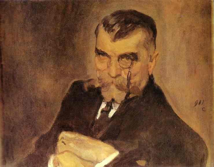 Oil painting:Portrait of Alexei Stakhovich. 1911