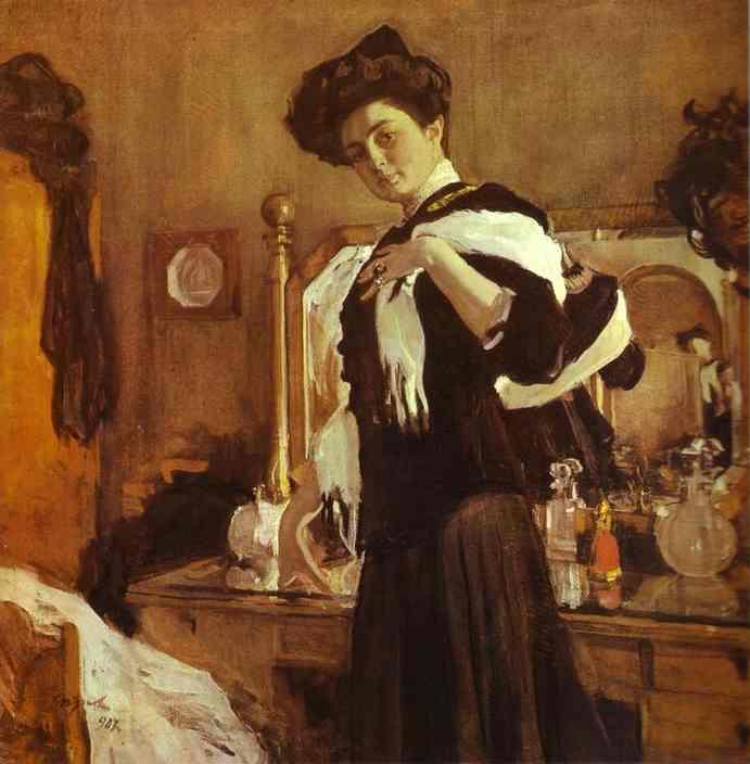 Oil painting:Portrait of Henrietta Girshman. 1907