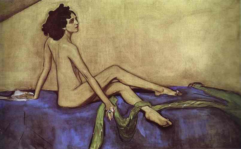 Oil painting:Portrait of Ida Rubenstein. 1910