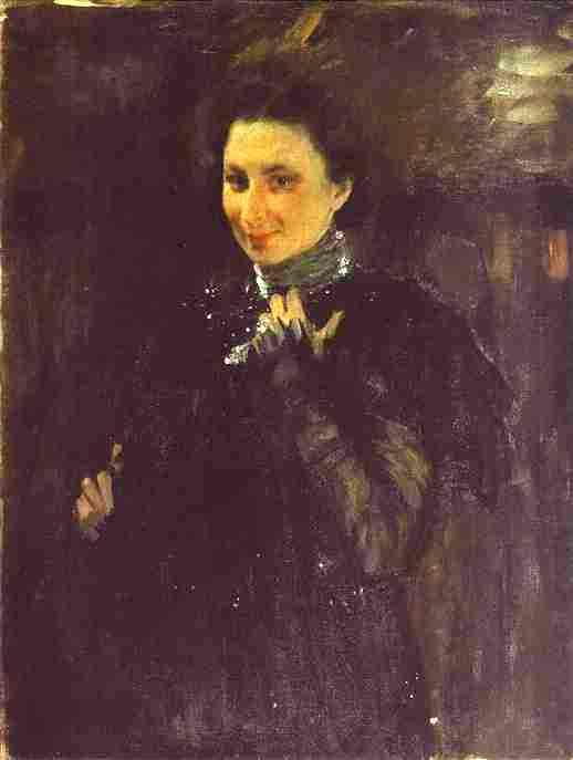 Oil painting:Portrait of Mara Oliv. 1895