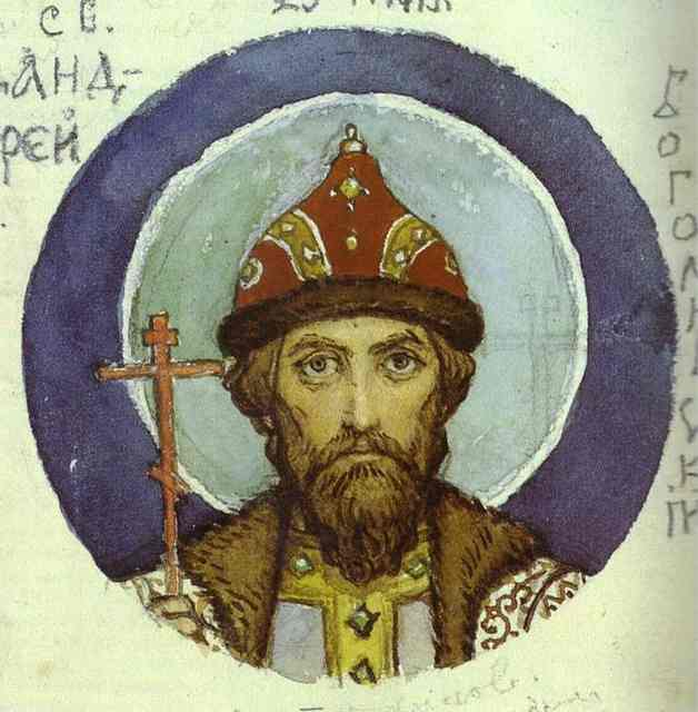 Oil painting:Prince Andrei Bogoliubsky. Sketch for a fresco in the Cathedral of St. Vladimir in