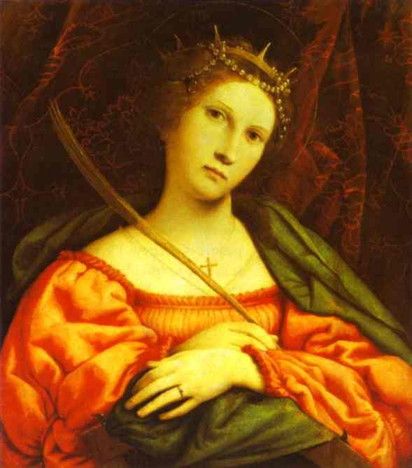 Oil painting:St. Catherine. 1522