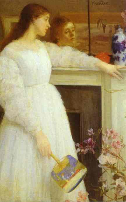 Oil painting:Symphony in White No 2: The Little White Girl. 1864