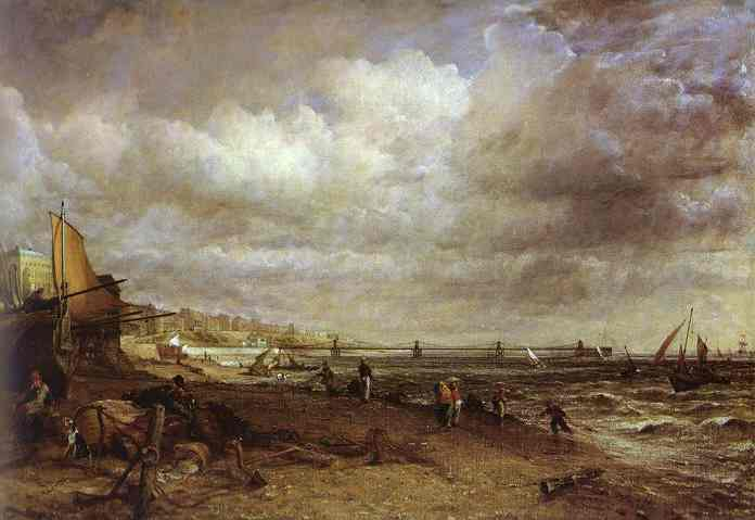 Oil painting:The Chain Pier, Brighton. 1827
