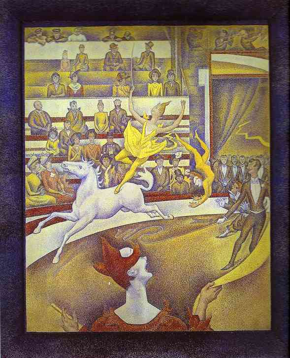 Oil painting:The Circus. 1890