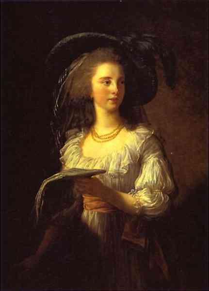 Oil painting:The Duchess de Polignac. 1783