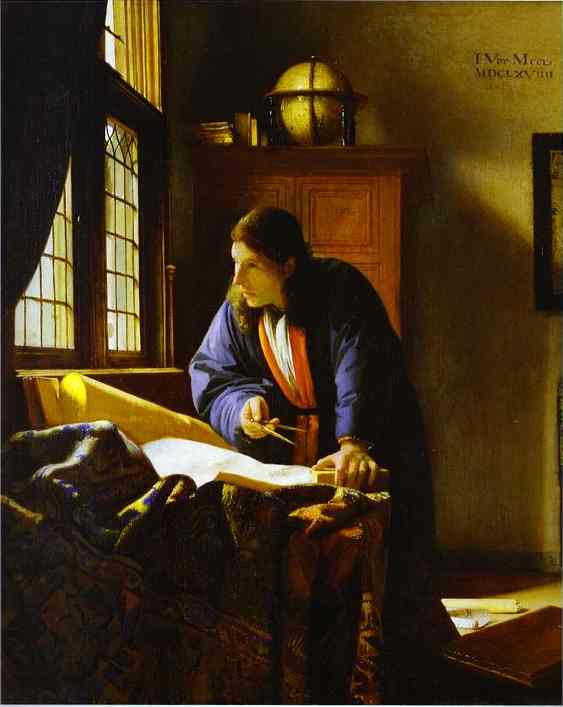 Oil painting:The Geographer. c.1668