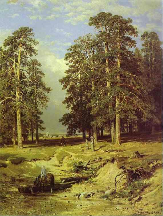 Oil painting:The Holy Spring Near Yelabuga. 1886