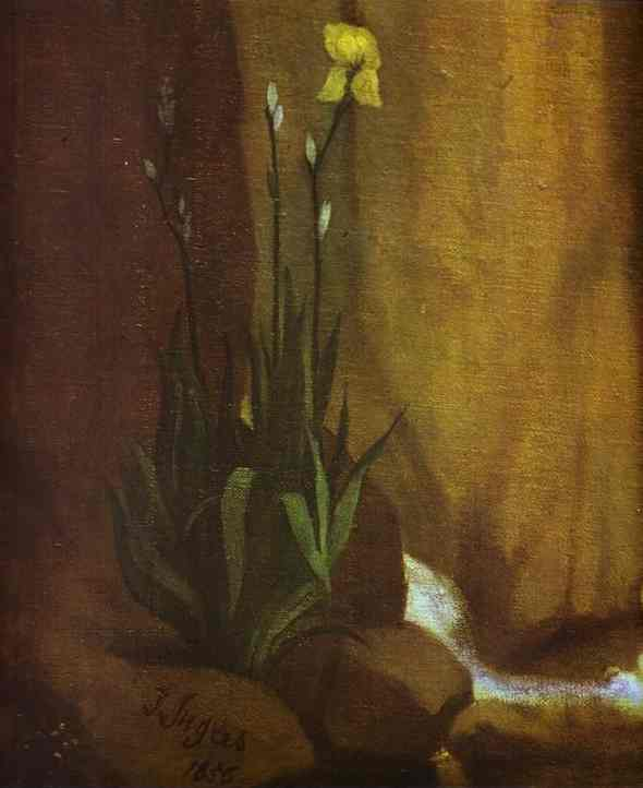 Oil painting:The Source. Detail. 1856