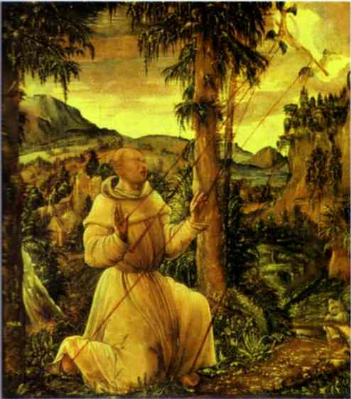 Oil painting:The Stigmatization of St. Francis. 1507