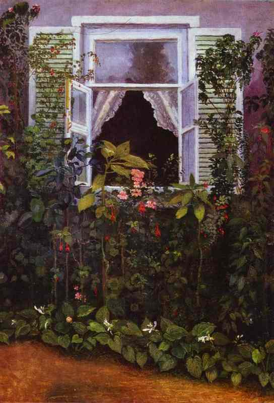Oil painting:Window. 1886
