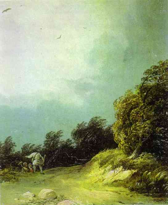 Oil painting:Windy Day. 1833
