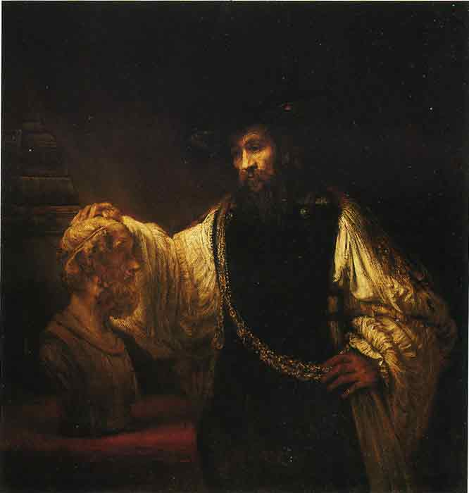 Oil painting for sale:Aristotle Contemplating a Bust of Homer, 1653