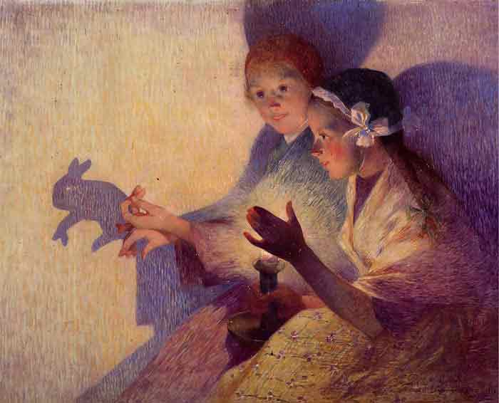 Oil painting for sale:Chinese Shadows, the Rabbit, 1895