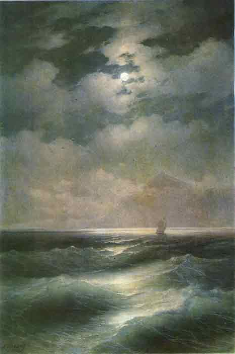 Oil painting for sale:Moonlit Sea, 1878