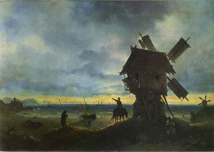 Oil painting for sale:Windmill on the Seashore, 1837