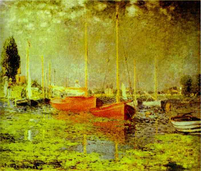 Red Boats. Argenteuil. 1875.