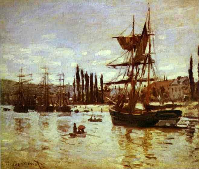 Ships at Rouen 1872.