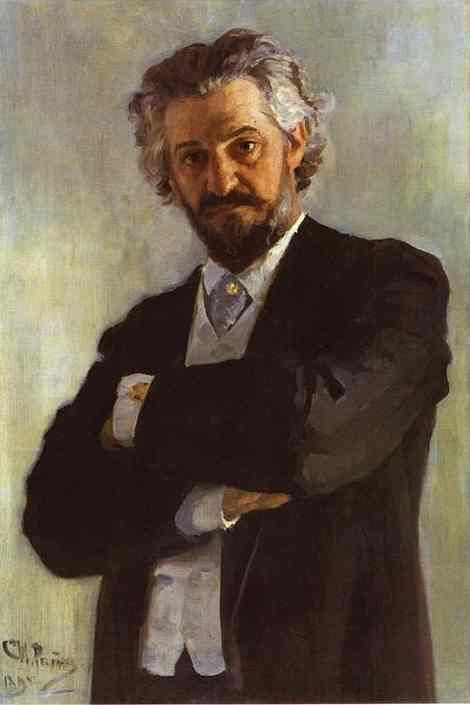 Oil painting:Portrait of the Chello-Player Alexander Verzhbilovich. 1895