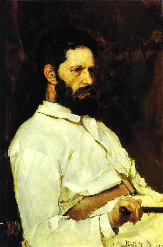 Oil painting:Portrait of the Sculptor Mark Antokolsky. 1884