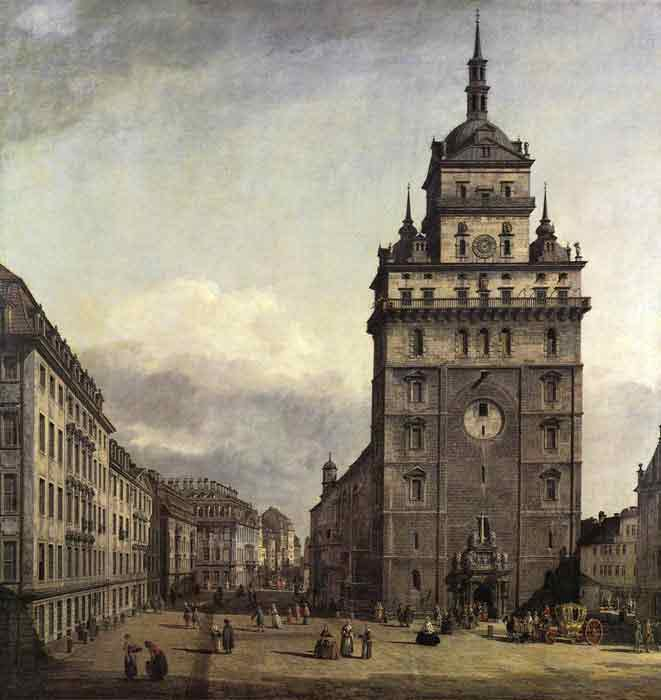 Oil painting for sale:The Kreuzkirche in Dresden, 1747-1756