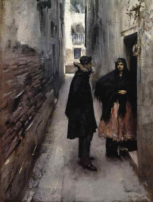 Oil painting for sale:A Street in Venice , 1880