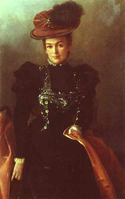 Oil painting:Portrait of an Unknown Woman. 1886