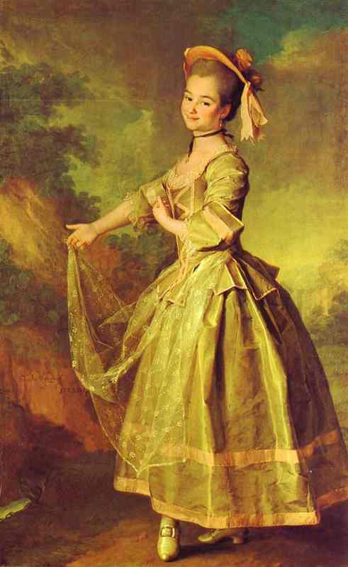 Oil painting:Portrait of Ekaterina Nelidova. 1773