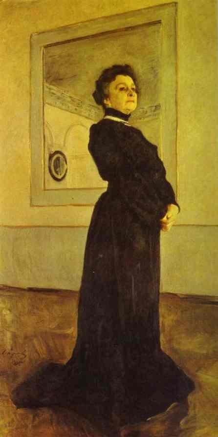 Oil painting:Portrait of the Actress Maria Yermolova. 1905