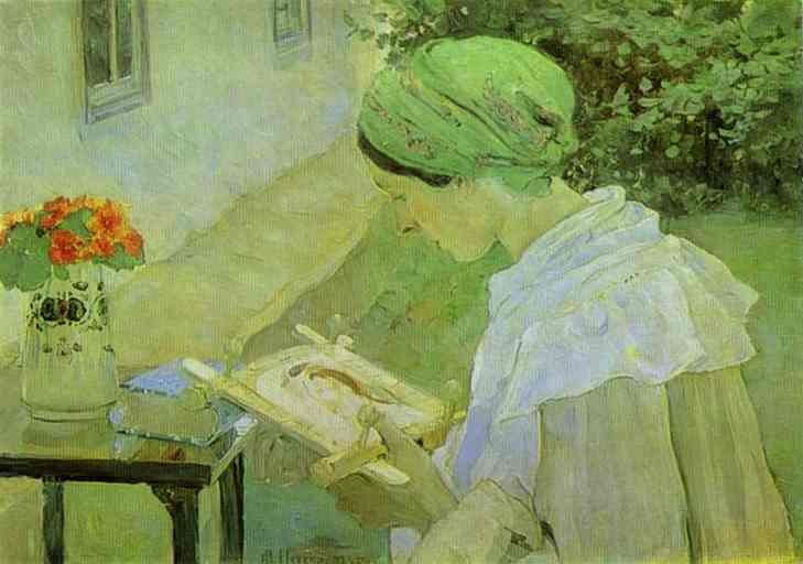 Oil painting:Portrait of Ivan Pavlov. 1935