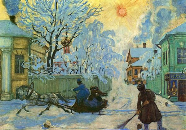 Oil painting: Frosty Day. 1916