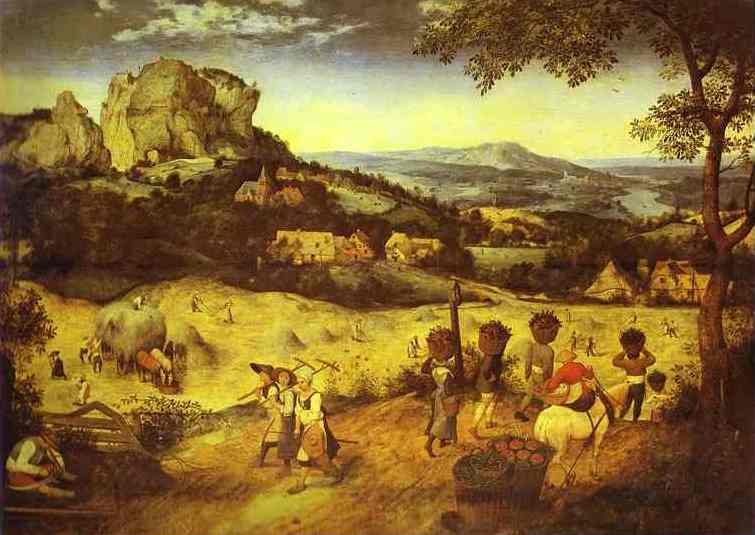 Oil painting:Haymaking(July). 1565