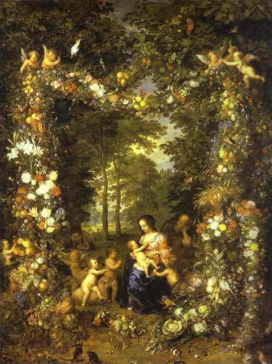Oil painting:Jan Brueghel the Elder and Pieter van Avont