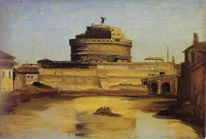 Oil painting:Le Chateau Saint-Ange.