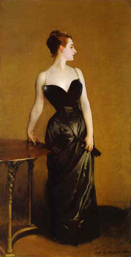 Oil painting:Madame X (Madame Pierre Gautreau). 1884