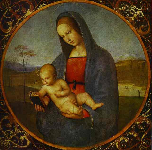 Oil painting:Madonna Connestabile. c.1503