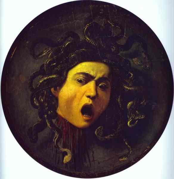 Oil painting:Medusa. c.1598