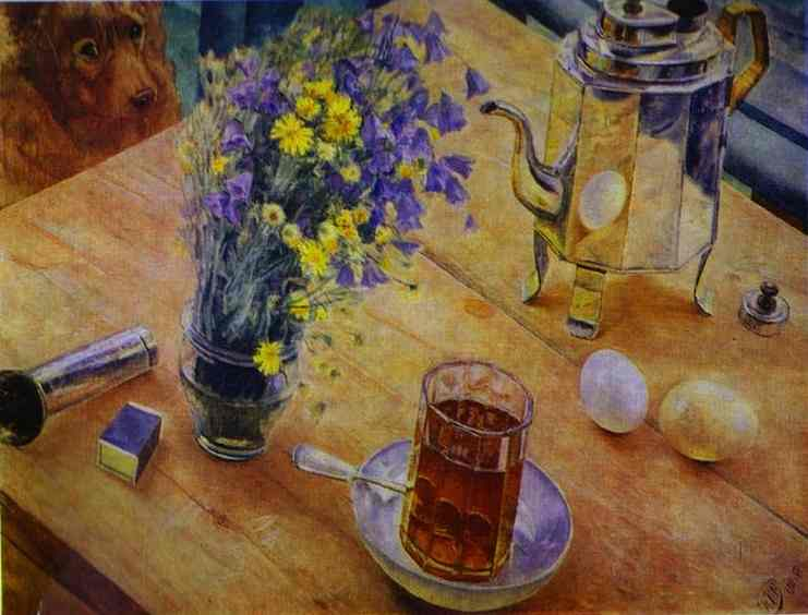 Oil painting:Morning Still Life. 1918