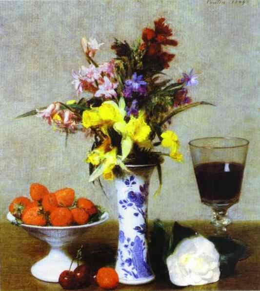 Oil painting:Nature morte aux fiancailles. 1869