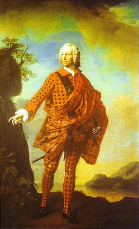 Oil painting:Norman The Red Man, 22nd Chief of MacLeod. 1747
