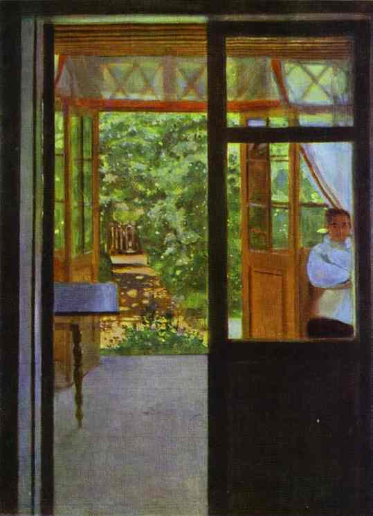 Oil painting:On the Balcony. 1901