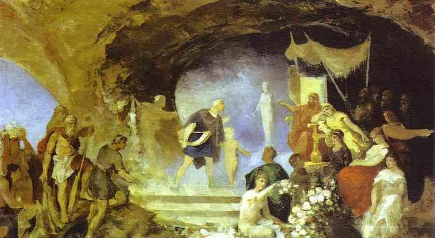 Oil painting:Orpheus in the Underworld. 1880