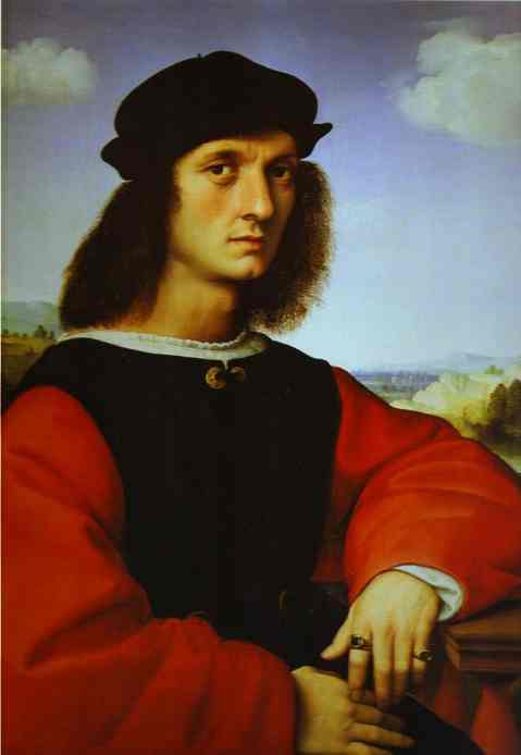 Oil painting:Portrait of Agnolo Doni. c.1506