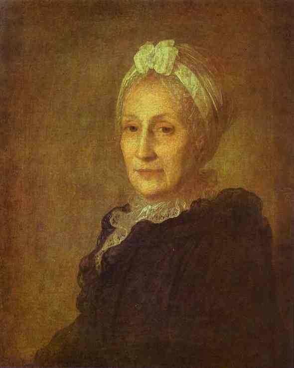 Oil painting:Portrait of Anna Yuryevna Kvashnina-Samarina. 1770