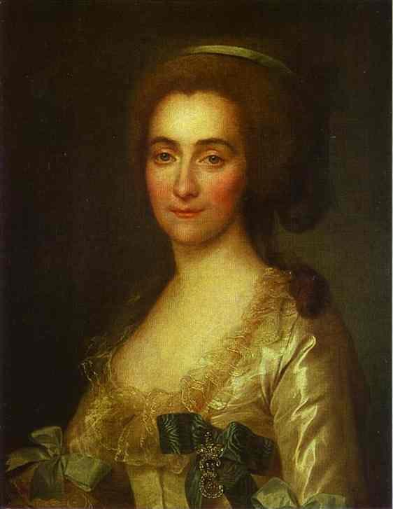 Oil painting:Portrait of E. A. Vorontsova. 1783