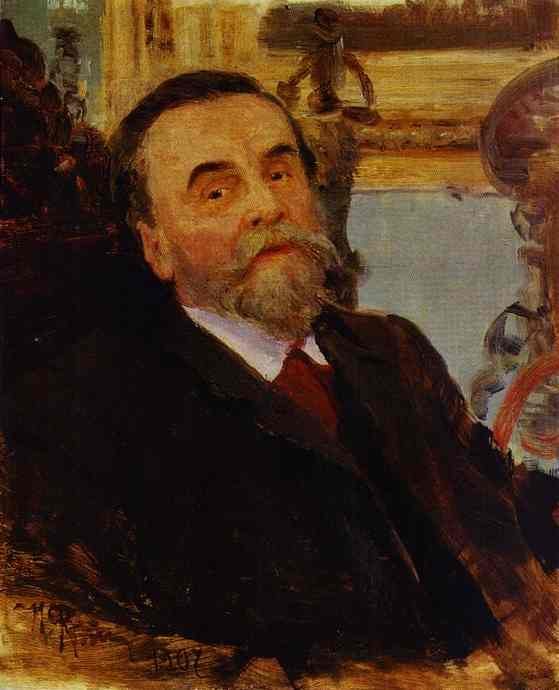 Oil painting:Portrait of Ivan Zvetkov. 1907