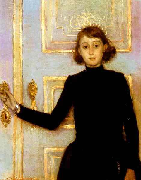 Oil painting:Portrait of Marguerite van Mons. 1886