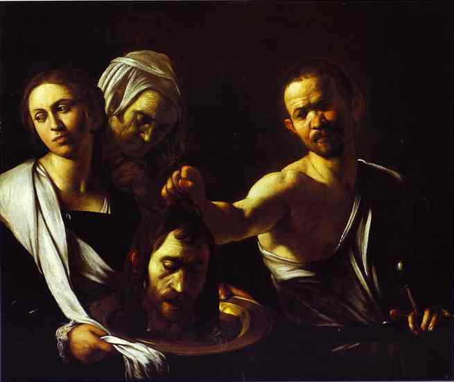 Oil painting:Salome with the Head of St. John the Baptist. c.1609-1610